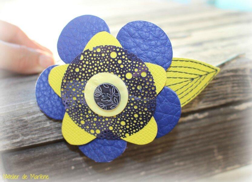 bijoux tête bleu et jaune