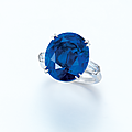 A rare <b>sapphire</b> and diamond ring