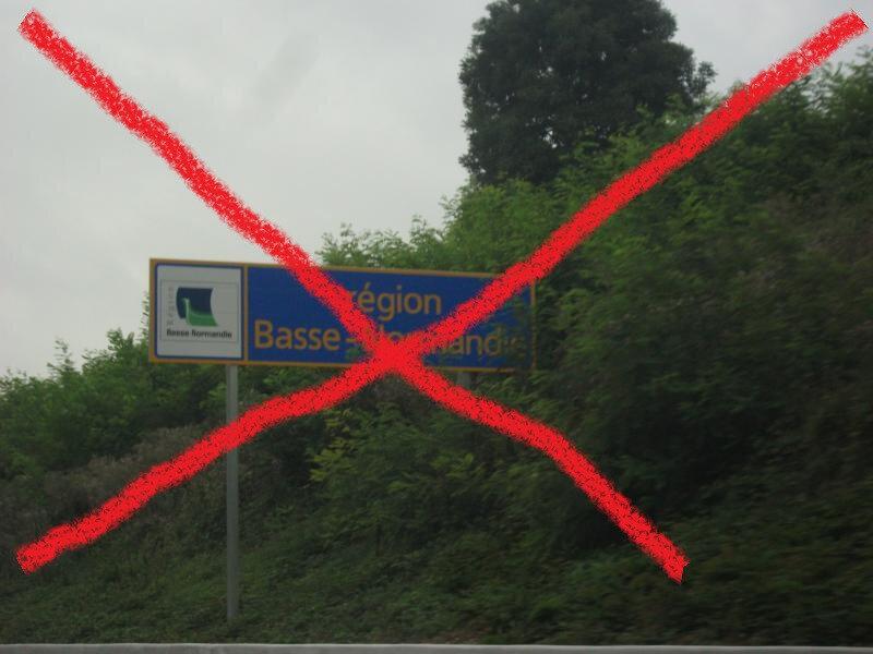 A28 du côté d'Alençon: ça pavoise normand… ENFIN!