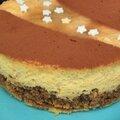 Cheesecake pomme rôtie, cannelle de ceylan et cacao à bord du vapeur à aube...