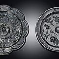 A bronze octalobed mirror, <b>Tang</b> Dynasty (618-907)