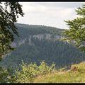 La Roche Fauconnière depuis les Rochers d'Orvaz