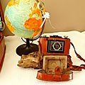 Location déco voyage globe et appareil photo mariage