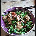 L'excuse de la salade - salade chaude au poulet et à la feta