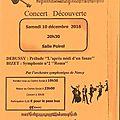 Concert découverte samedi 10 décembre 2016