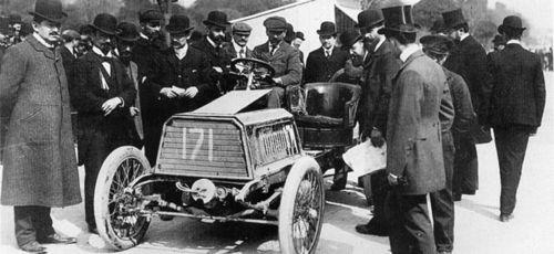 1903 paris-madrid - henri béconnais (darracq 40hp) dnf
