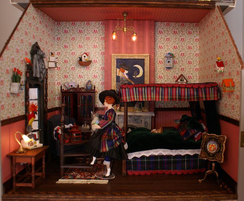 la chambre au décor tartan