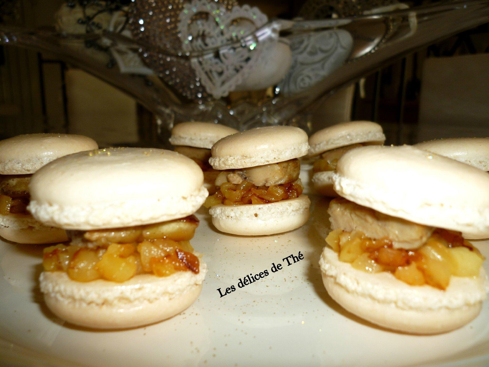Macaron Escalope de foie gras/pomme