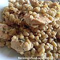 Eblysotto au poulet, ricotta et persil.