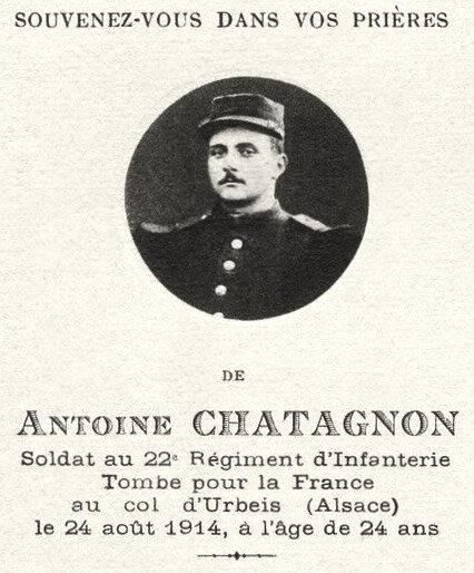 Antoine Chatagnon, image pieuse