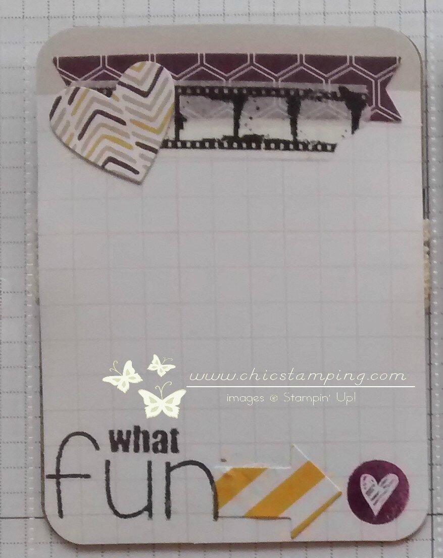 DIY card - serie washi & scrap papers 1