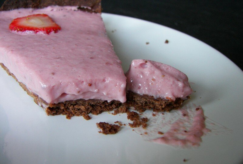 Tarte à la mousse aux fraises