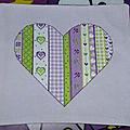 Sal coeur patchwork finitionné !