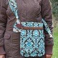 sac artiste marron-turquoise 1