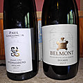Alsace : Paul Ginglinger : <b>Riesling</b> Pfersigberg Hertacker 2017, Vin du Pays du Lot : Domaine Belmont Dolmen 2017