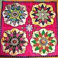 mandala au quatre fleurs