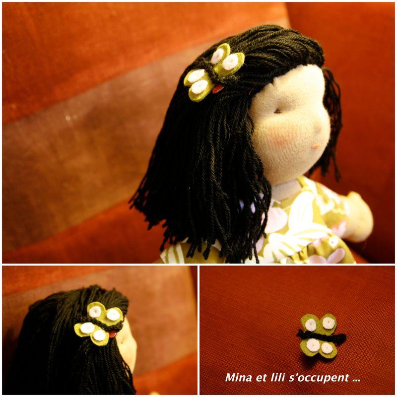 Epingle à cheveux papillon