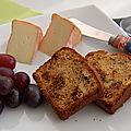 Pain ou cake aux figues et aux noix, sans gluten, pour accompagner les fromages