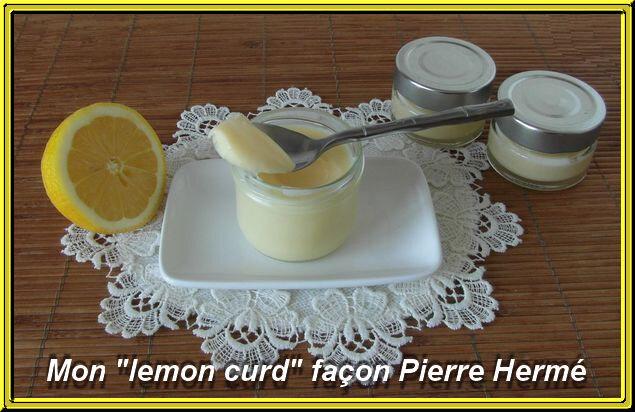 Lemon curd de Pierre Hermé