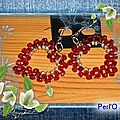 Coeur facette rouge perles or BO blog