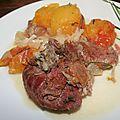 Joue (museau) de porc à la tomate ananas