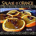 Salade d'orange au miel et aux dattes