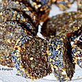 Barre énergétique aux dattes, figues séchées, noix de cajou, amandes et spiruline, vegan