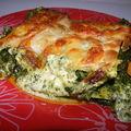Lasagnes aux épinards et aux 3 fromages