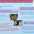 Aime 77 au salon international de l'autisme les 6 & 7 avril 2018 à chessy marne la vallée