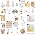 Sélection décoration pour un <b>Noël</b> blanc et or