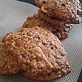 Des cookies authentiques aux flocons d'avoine