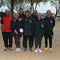 2016 : rencontre coupe de france à pétanque, coupe du var au jeu provençal, championnat des clubs féminins