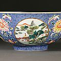 Famille Rose Sgraffito Decorated Bowl, Daoguang Mark and Period