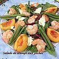 Salade de scampi aux pêches