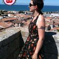Céline, et sa robe Marylin Tattoo Black