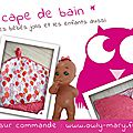 IMG_0851-PLANCHE-owly-mary-du-pole-nord-sortie-cape-poncho-bain-eponge-rose-fuchsia-michael-miller-children-at-play-bais-pois-blanc-rose