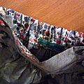 Intérieur short coton gris doublé liberty à la ceinture