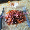Coeur de boeuf carottes-tomates
