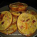 Quiche jambon tomate séché mozzarella pour 10 part 2 pp la part