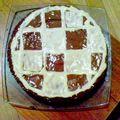 1,2,3 Il n'est pas aux bois mais 1,2,3 Du <b>chocolat</b> il y a ! : Gâteau façon géant Champi aux 3 <b>chocolats</b> et noisette !