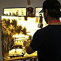 L'artiste en cours de création