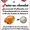 Des pains au chocolat pour la section euro