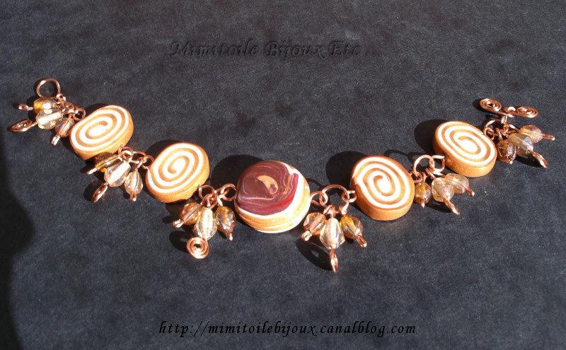 Bracelet caramel verso