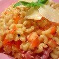 Coquillotto au magret de canard et parmesan