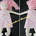 Robes croisées dans le dos pour poupées