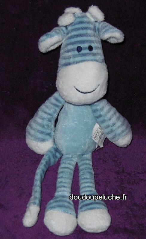 Doudou peluche âne cheval TFC, tout compte fait, bleu blanc, www.doudoupeluche.fr