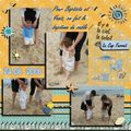 1ers pas à la plage