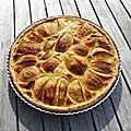 Tarte aux pommes à l'alsacienne ou tarte flan