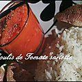 Coulis de tomate à la sarriette