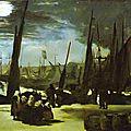 Manet, Clair de lune sur le port de Boulogne